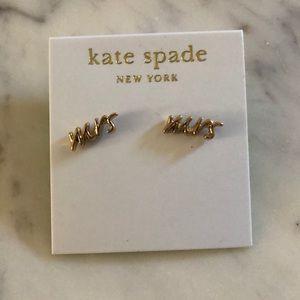 NWT Kate Spade Mrs Earrings